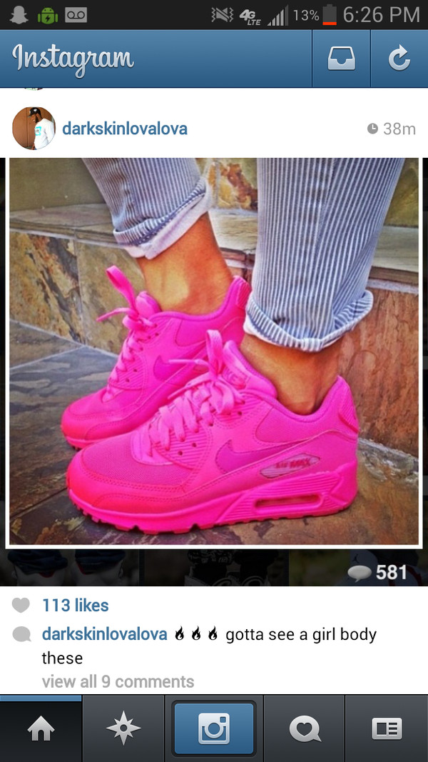 nike air max 90 hyperfuse neon pink