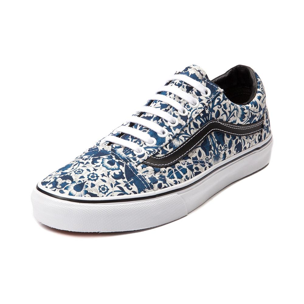 Vans x liberty old skool skate shoe, navy floral vines