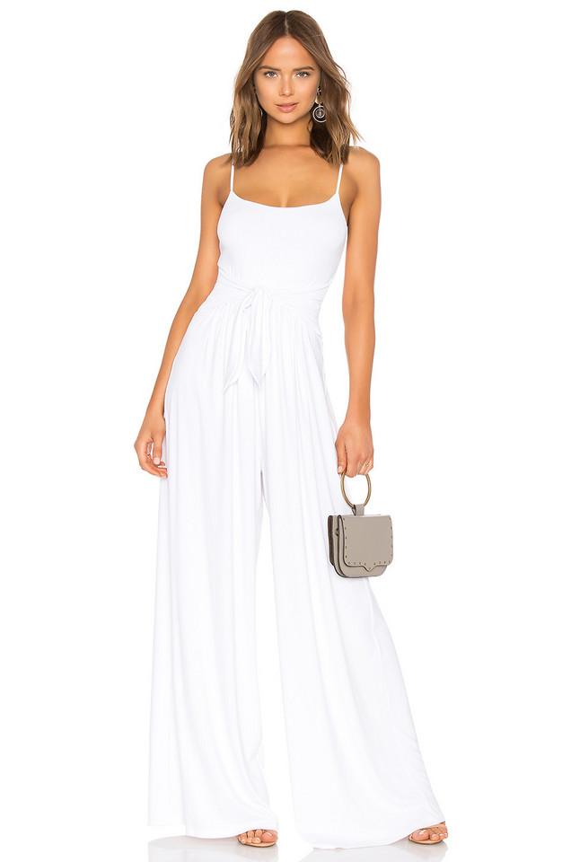 Susana Monaco Flowy Jumpsuit in white