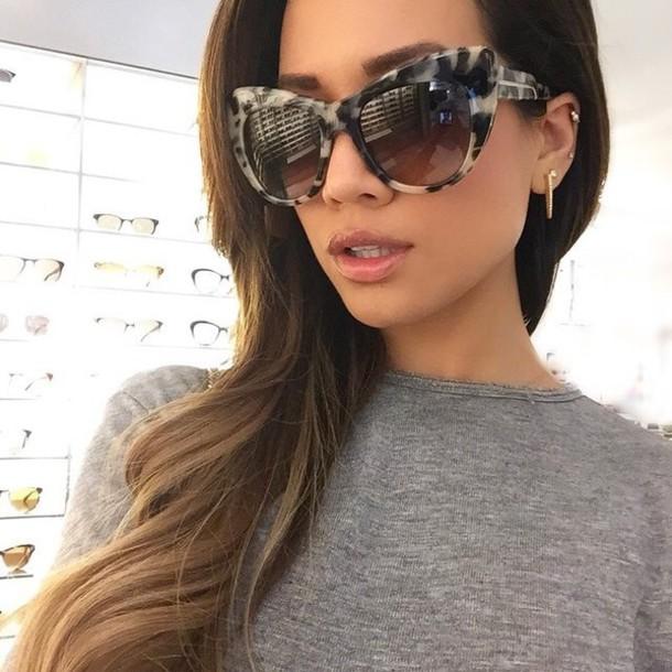 sunglasses leopard print leopard print leopard sunglasses summer black brown sunglass cat eye tortoise shell sunglasses