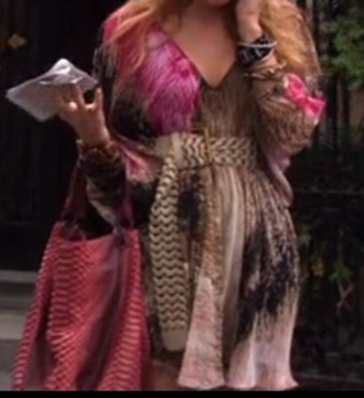 dress gossip girl pink dress brown beautiful serena van der woodsen blondie