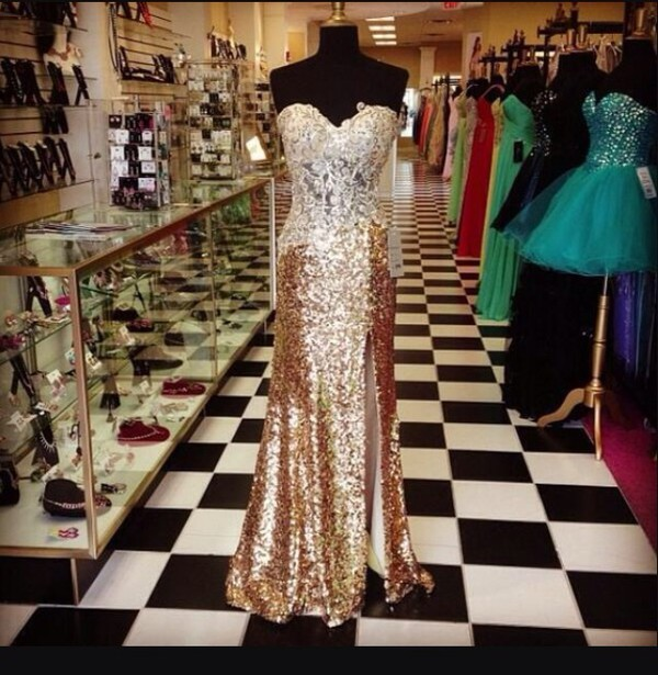 gold sequin dress cute dress cute prom dress prom style fashion