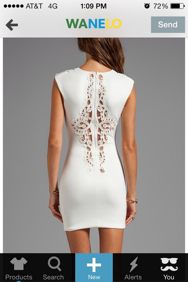 white dress bodycon dress cutout design homecoming dress cocktail dress