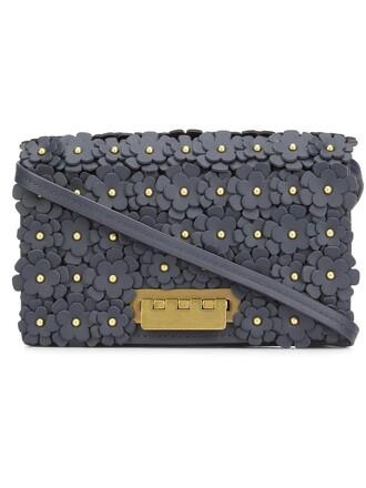 women embellished bag crossbody bag floral blue