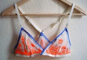 underwear,sheer,lace,blue,white,neon,orange,bra,embroidered,racerback,bralette
