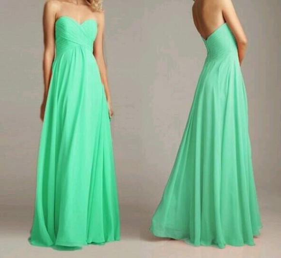 dress green dress long prom dress light green mint green light green strapless prom dress beautiful green dress