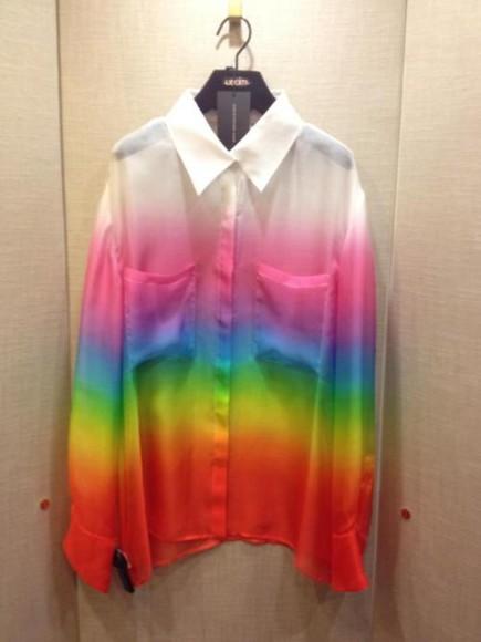 shirt rainbow shirt