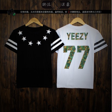 2014 New YEZZY 77 BF camouflage Harajuku Lovers T shirt sleeved men Korean been trill-in T-Shirts from Apparel & Accessories on Aliexpress.com | Alibaba Group