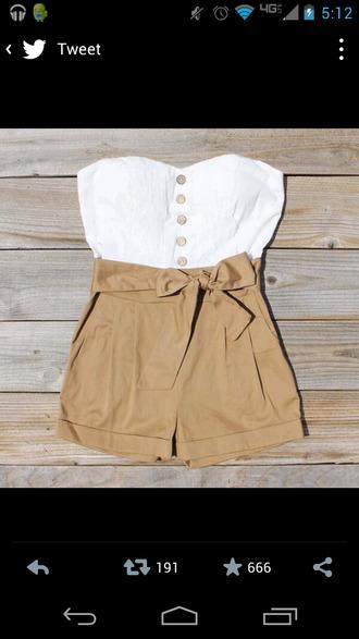 blouse buttons bustier jumpsuit romper