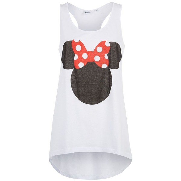 White Minnie Mouse Racer Back Vest - Polyvore