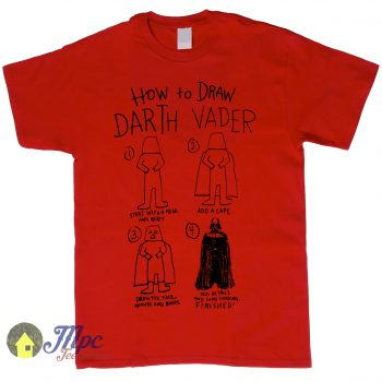 How To Draw Darth Vader Star Wars T Shirt – Mpcteehouse.com