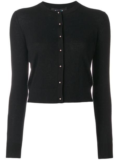 PAULE KA cardigan knitted cardigan cardigan women classic black silk sweater