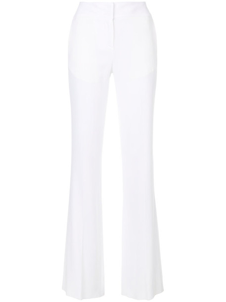 high waisted high women spandex white pants