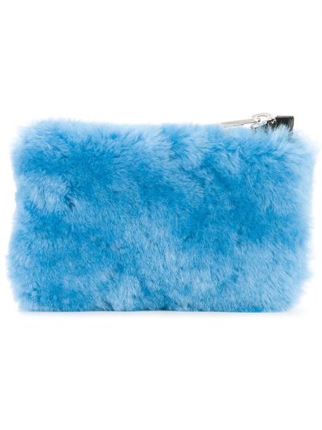 Cityshop fur women clutch blue bag