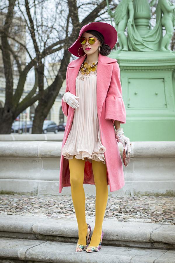 macademian girl coat dress shoes bag hat jewels sunglasses
