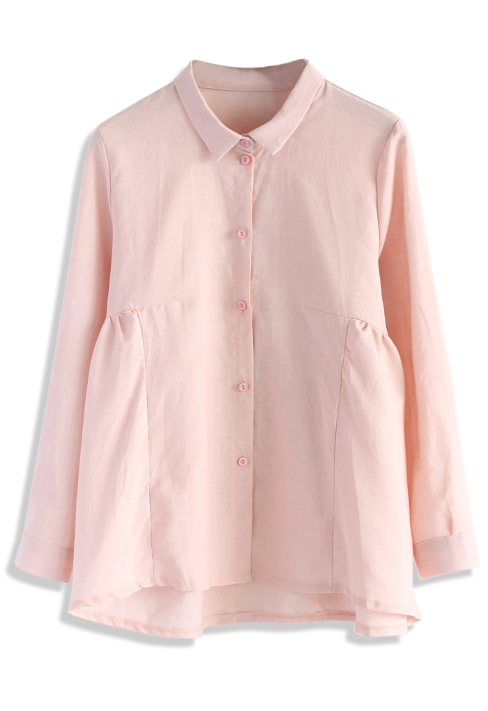 Dolly Flare Shirt in Pink - Retro, Indie and Unique Fashion