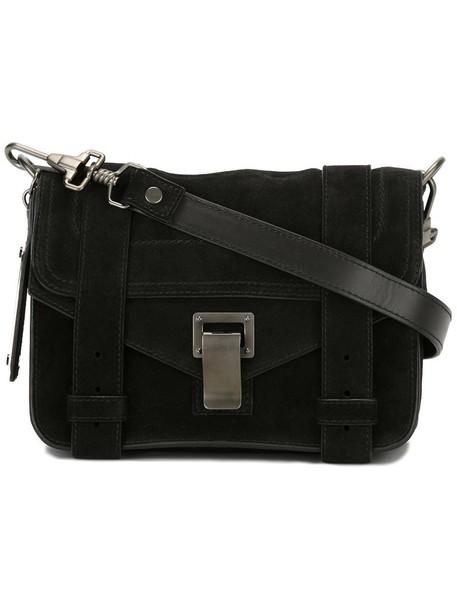 Proenza Schouler mini women suede black bag
