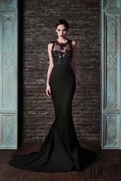 dress,black,prom dress,long prom dress,floral,dramatic,dark,lace dress,mermaid prom dress,sexy dress,gown,black dress,long dress,long evening dress,formal dress
