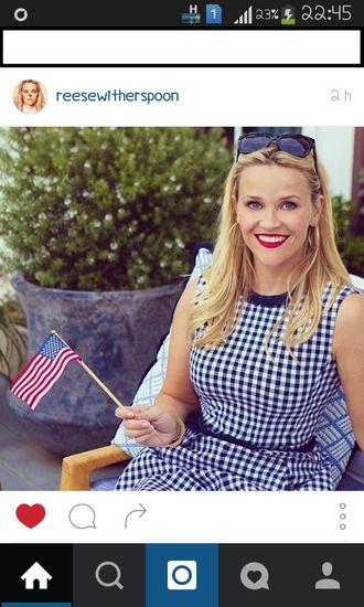 dress reese witherspoon short dress gingham sunglasses blonde hair cute dress