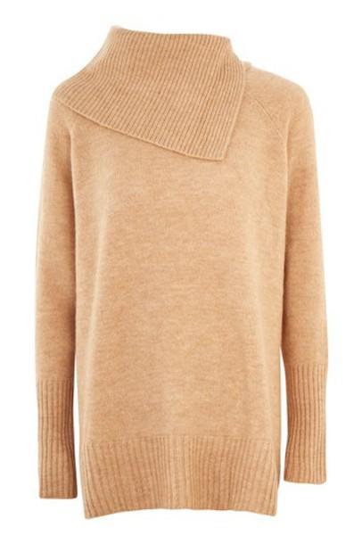 Topshop sweater camel
