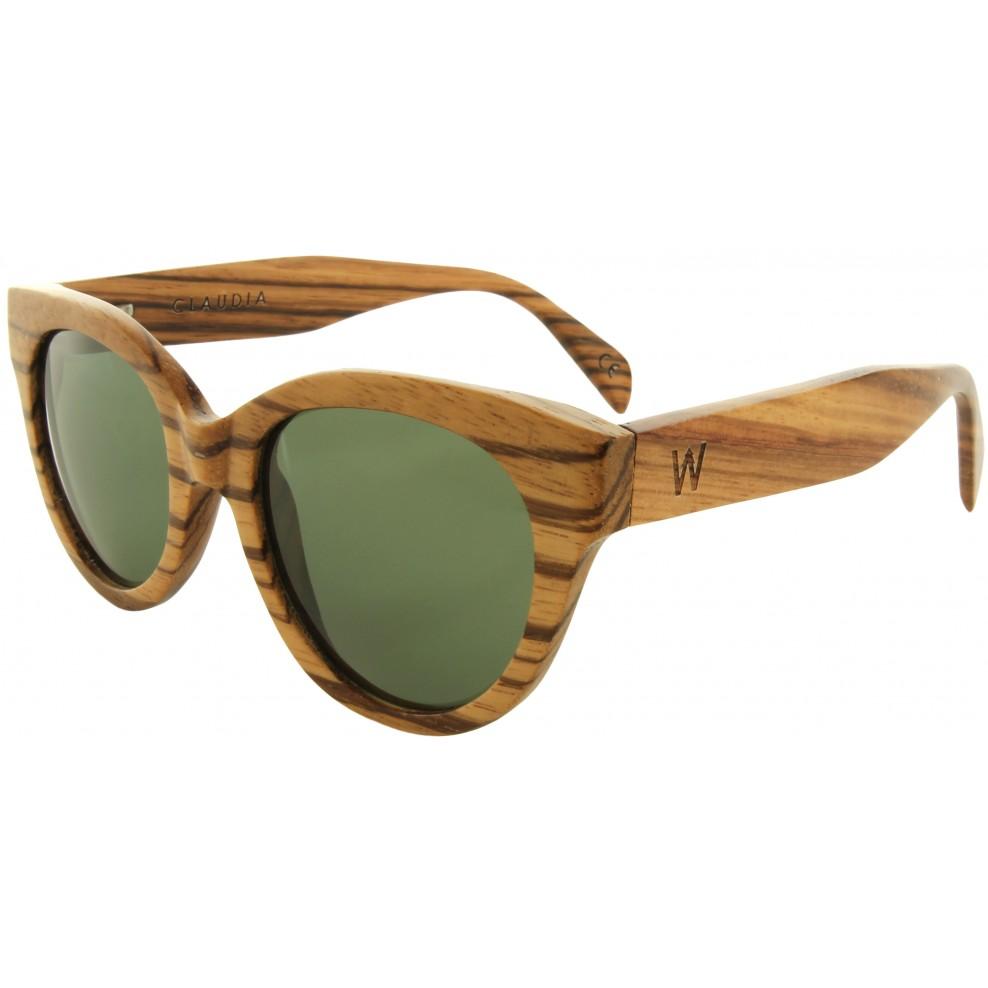 Claudia zebra wood sunglasses