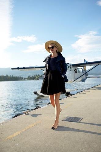 atlantic pacific blogger jacket t-shirt shoes skirt hat sunglasses