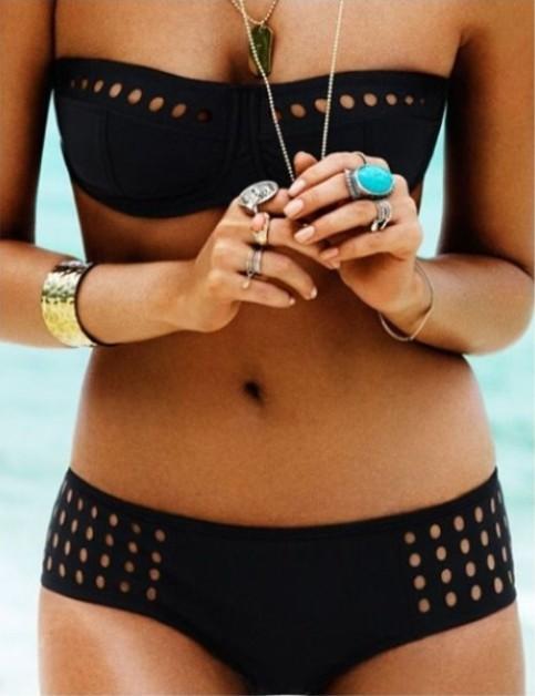 Free shipping dropshipping! lace swimsuit bandage push up bathing suit tops underwire swimwear bikinis