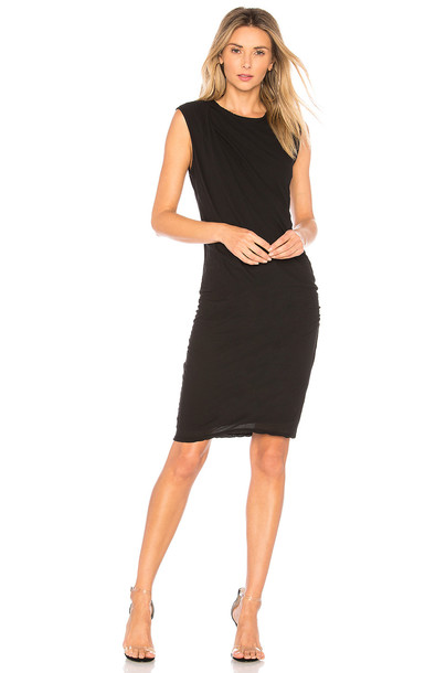James Perse dress draped dress draped black