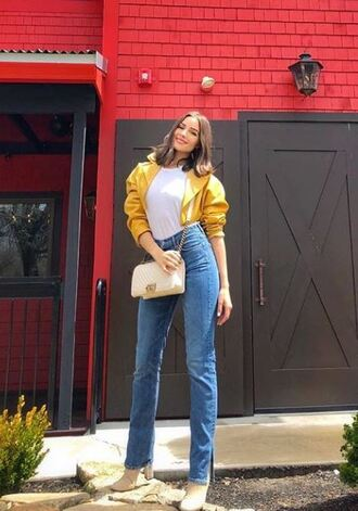 jeans boots jacket top instagram casual olivia culpo shoes