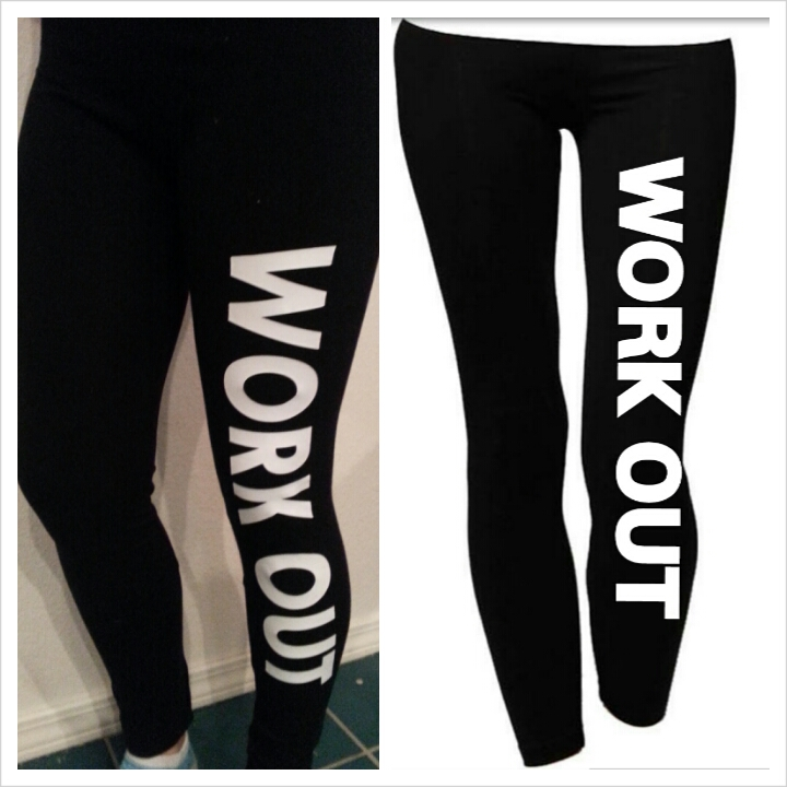 """""""workout"""" leggings / lifestyle fitness apparel"""