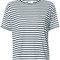 Anine bing - striped t-shirt - women - polyester - s, blue, polyester