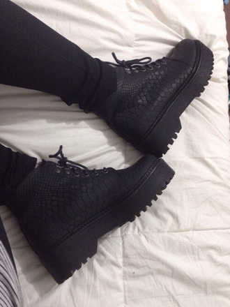 shoes little black boots snake print snakeskin