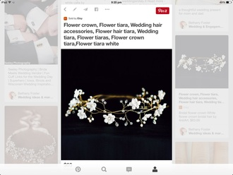 hair accessory white wedding hairstyles girly flowers