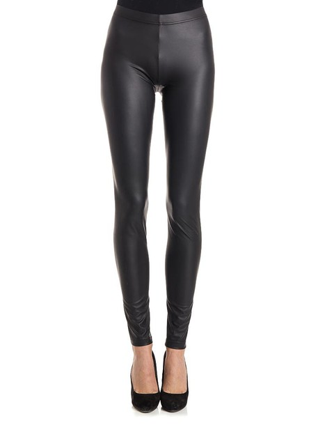 Plein Sud Jeanius leggings leather leggings faux leather leggings leather black pants
