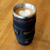 jewels,cup,home accessory,coffee,camera,trendy,accessories,chichime,wow,awesomness,mug,camera coffee cup,camera lens cup mug