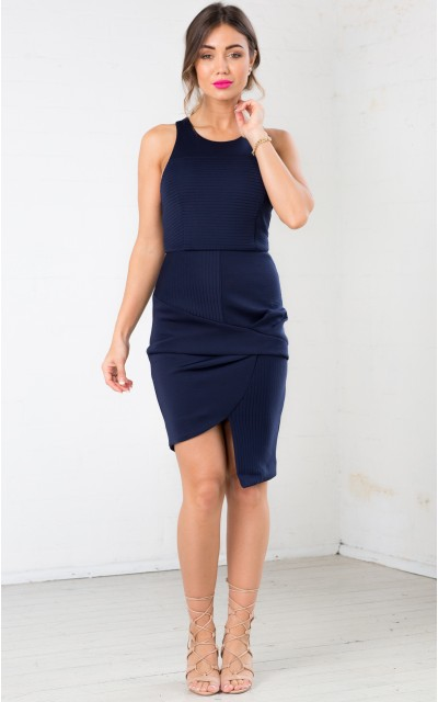 Through And Through dress in navy