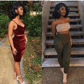 shoes,outfit,outfit idea,fall outfits,summer outfits,spring outfits,cute outfits,date outfit,party outfits,clothes,trendy,fashion,style,streetstyle,stylish,streetwear,clubwear,two piece dress set,two-piece,casual,velvet,burgundy,burgundy top,velvet top,top,summer top,cute top,crop tops,burgundy skirt,cute skirt,skirt,velvet skirt,pencil skirt,high waisted skirt,pants,skinny pants,summer pants,olive green,tube top,sleeveless top,sleeveless,sexy shoes,party shoes,cute shoes,summer shoes,pumps,high heel pumps,heels,high heels,cute high heels,ankle strap heels,nude heels,nude high heels,nude shoes,nude pumps,strappy heels