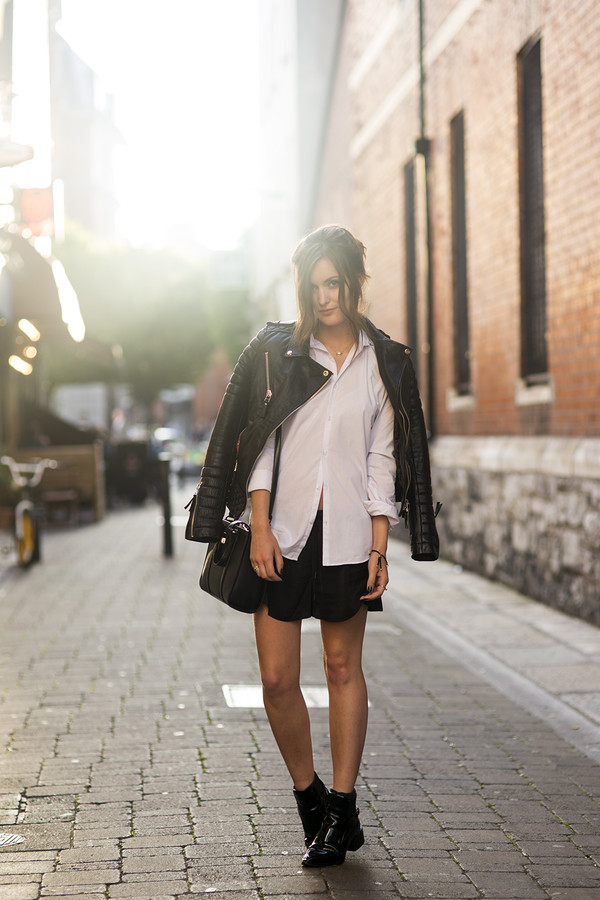 anouska proetta brandon jacket shorts shirt shoes