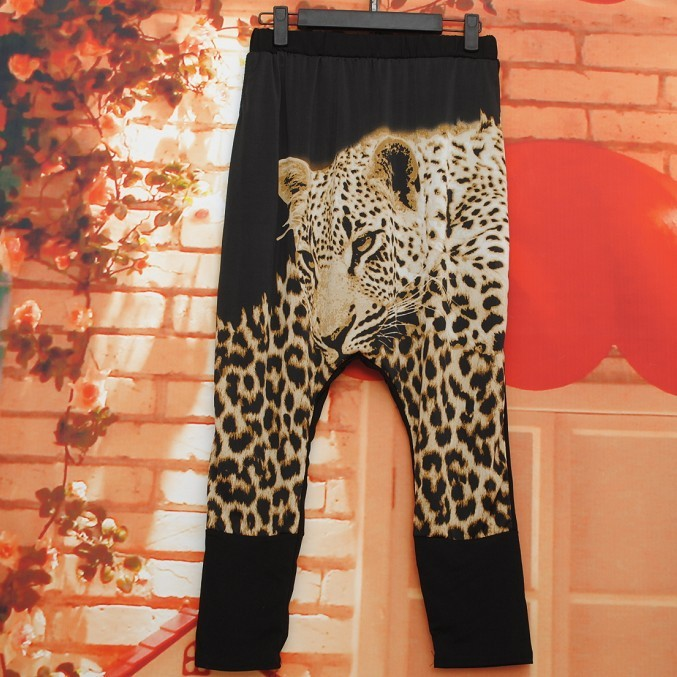 2013 New Brand Jazz harem women hip hop animal pants dance doodle summer loose big crotch pants tiger sweatpants wolf Trousers-inPants & Capris from Apparel & Accessories on Aliexpress.com