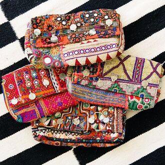 bag boho bohemian clutch