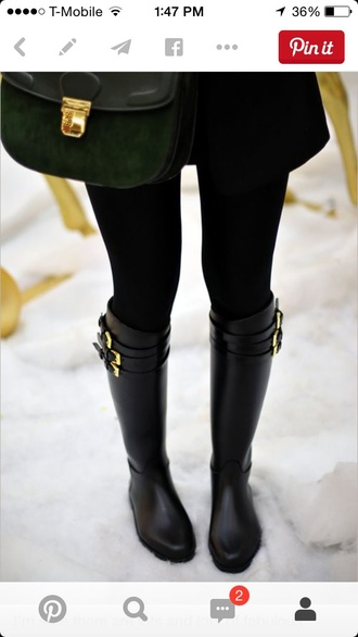 shoes black riding boots boots black and gold gold buckled boots riding boots