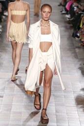 skirt,top,adwoa aboah,Paris Fashion Week 2017,runway,model