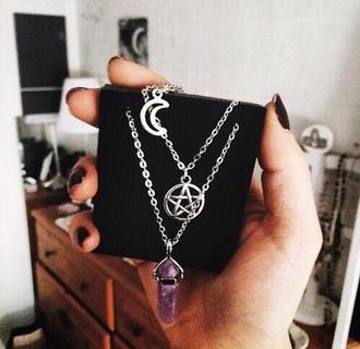 jewels necklace dark hipster