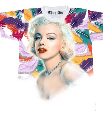 marilyn monroe feathers colorful
