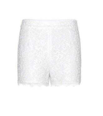 shorts lace shorts lace white