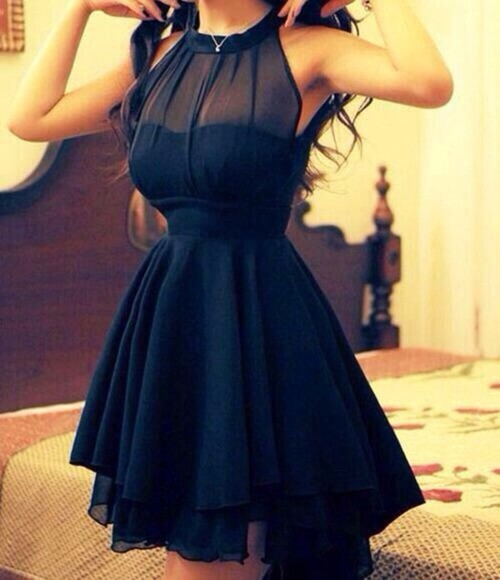 dress black little black dress prom beautiful