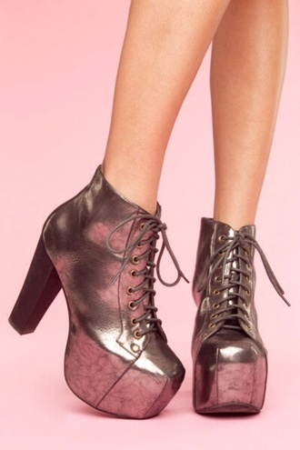 shoes jeffrey campbell jeffrey campbell lita silver shoes