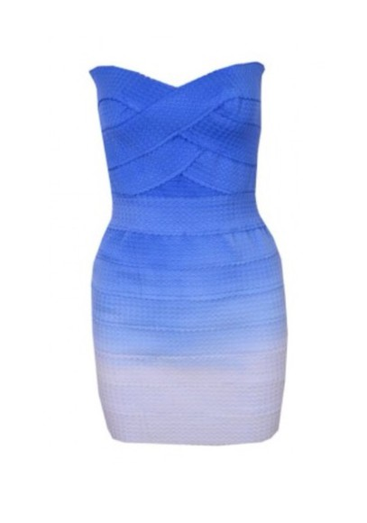 bandage dress blue dress white dress ombre ombre dress ombré blue blue bandage dresses white blue white dress