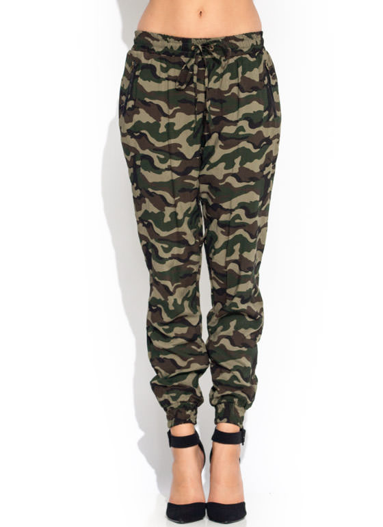 Brilliant Women39s CAMO Army Twill Span Jogger Pants By REDFOXWEAR On Etsy