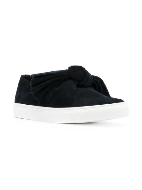 Cédric Charlier bow women sneakers leather cotton black shoes